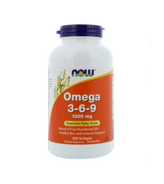 NOW Omega 3-6-9 250 капс