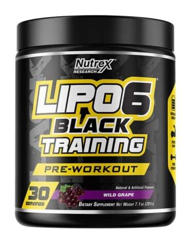 Nutrex Lipo-6 Black Training Pre Workout 195 гр