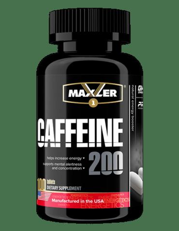 Кофеин Maxler Caffeine 200 100 таб 100 порций