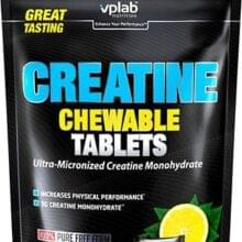 Креатин Vplab Creatine Chewable Tablets 90 таб 30 порций
